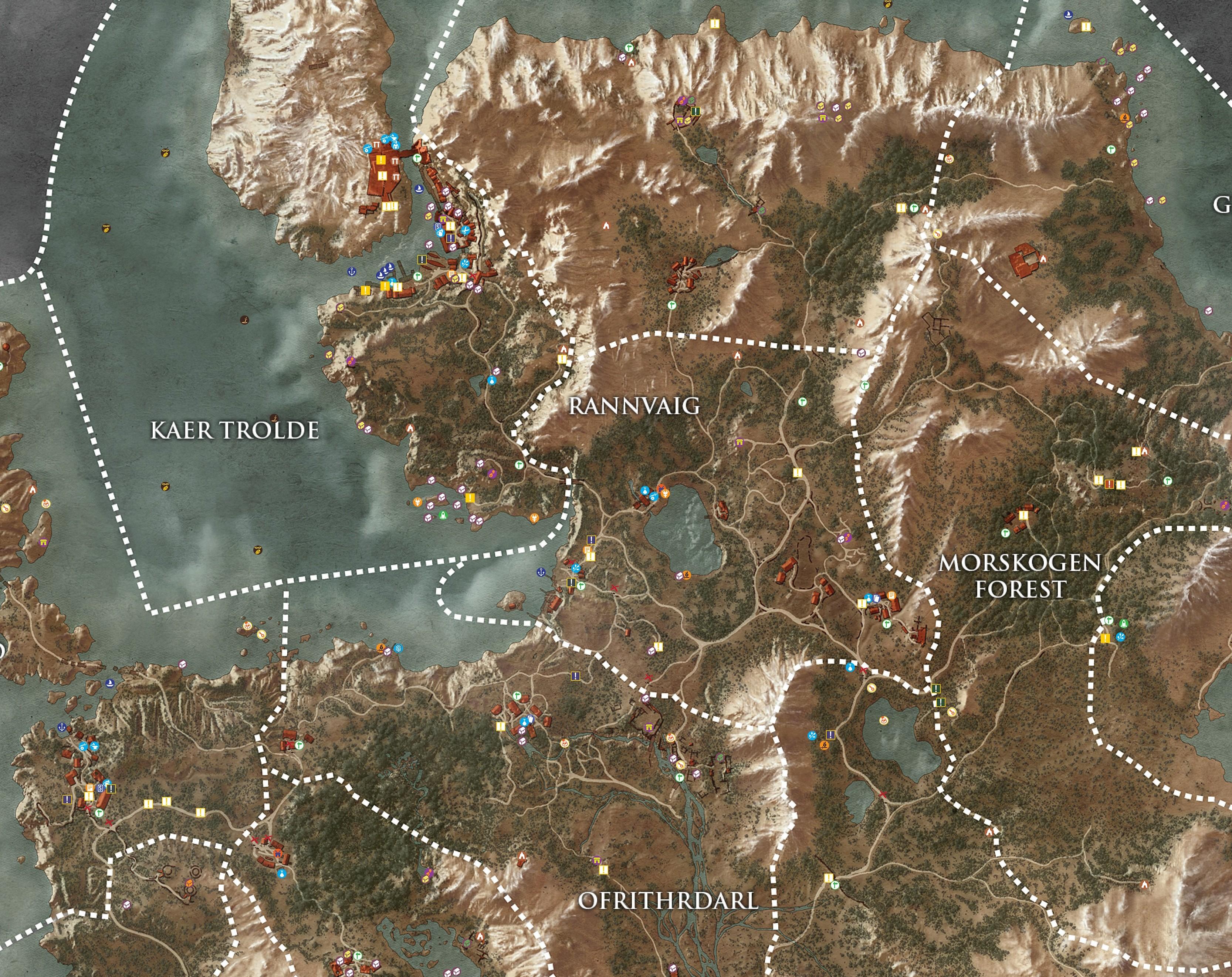 ведьмак 3 карты островов скеллиге где найти