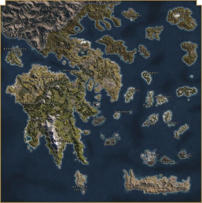 Карта Assassin's Creed Odyssey