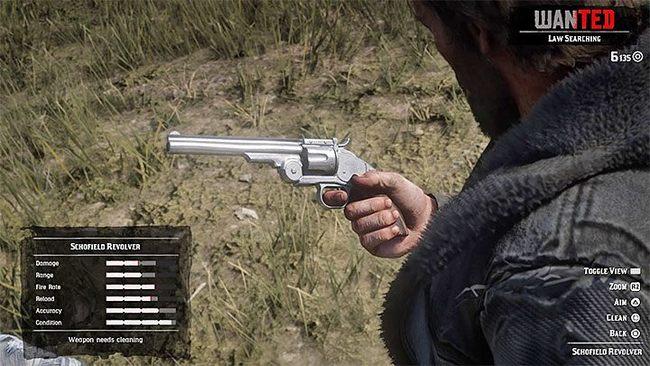 Как починить оружие в Red Dead Redemption 2?