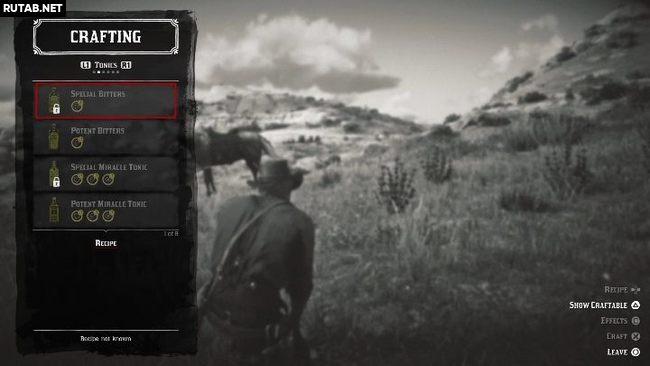 Крафтинг и рецепты в Red Dead Redemption 2
