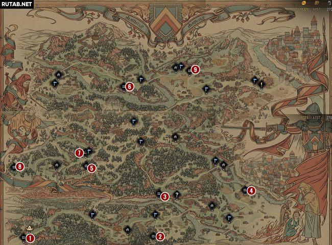Карта сокровищ Аэдирна | Гайд Кровная вражда: Ведьмак. Истории