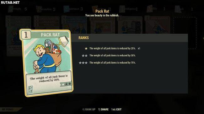 Как увеличить грузоподъемность персонажа в Fallout 76?