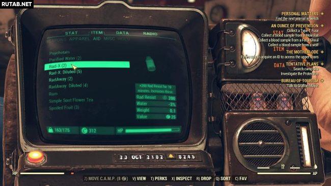 Как бороться с радиацией в Fallout 76?