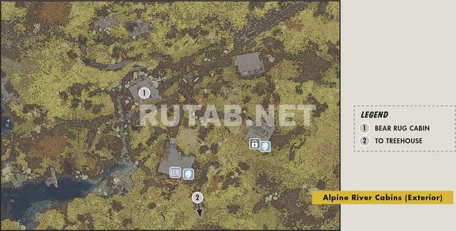 Карта Альпийские речные домики | Регион Лес - Зона A