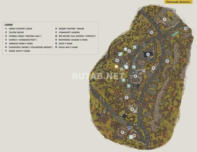 Карта Флэтвудс | Регион Лес - Зона A
