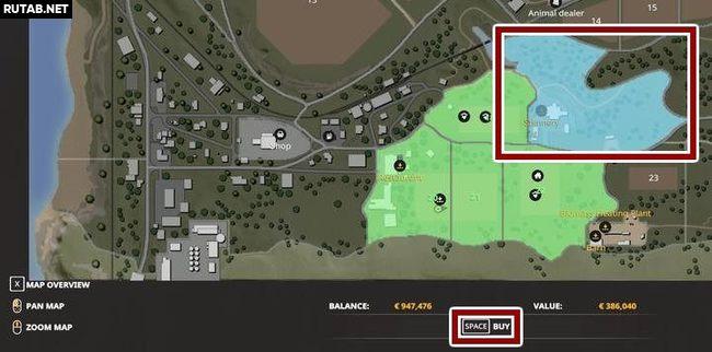 Как купить новые поля в Farming Simulator 19?