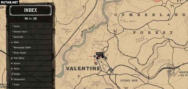 Все конюшни в Red Dead Redemption 2