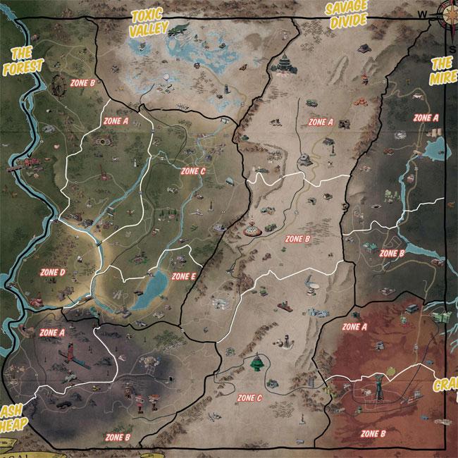 Карта Аппалачии