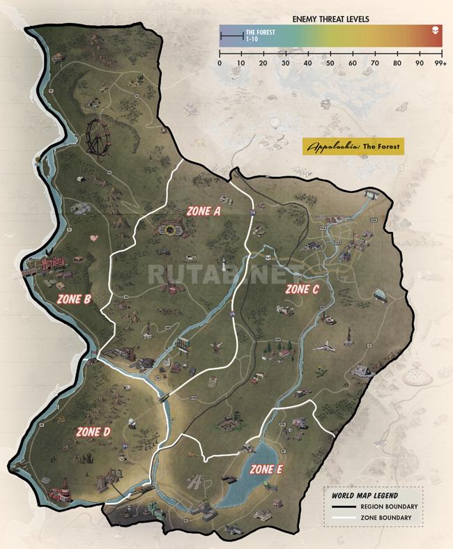 Карта региона Лес